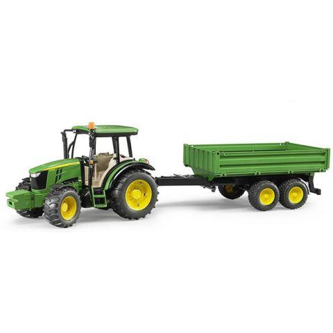Traktor John Deere 5115M s přívěsem 02108 BRUDER