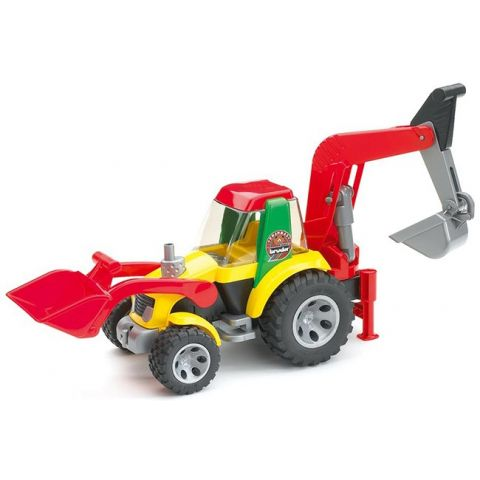 Traktor s čelním nakladačem a bagrem Roadmax 20105 BRUDER