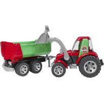 Traktor s čelním nakladačem a sklápěsím přívěsem Roadmax 20116 BRUDER