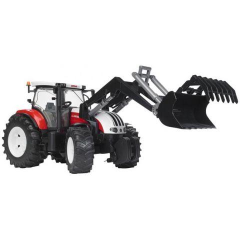 Traktor Steyr CVT 6230 s čelním nakladačem 03091 BRUDER