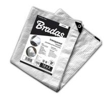 Transparentní plachta zakrývací, vyztužená LENO CRISTAL 3 x 3m, 100g