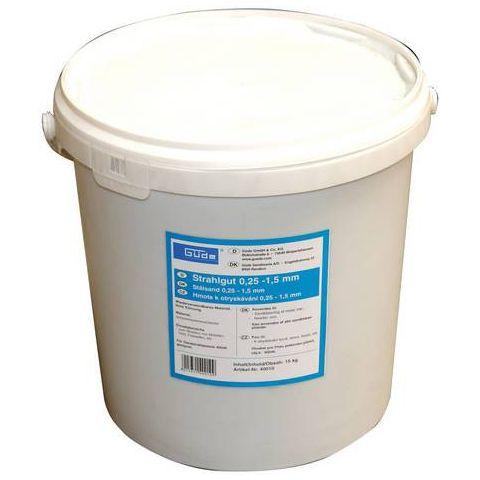 Tryskací materiál 15 kg, (0,25-1,5 mm), GÜDE (40010)