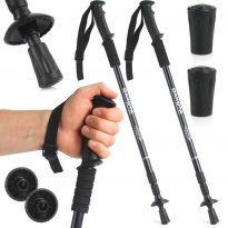 Turistické hůlky černé nastavitelné 2ks DAKOTA Sport