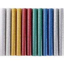 Tyčinky tavné, mix barev se třpytem (glitter), Ø 11x100mm, 12ks EXTOL CRAFT