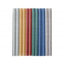 Tyčinky tavné, mix barev se třpytem (glitter), Ø 7,2x100mm, 12ks EXTOL CRAFT