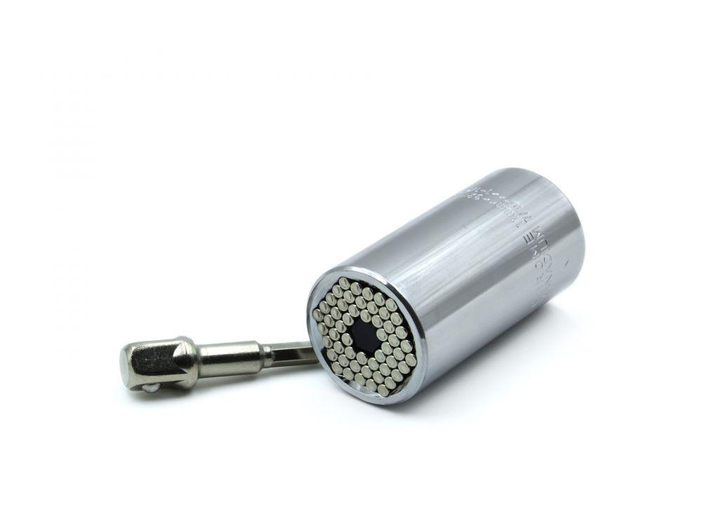 Univerzální nástrčná hlavice CrV 11-32mm + adaptér GEKO