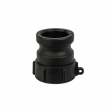 Uzávěr, redukce pro kontejner na vodu IBC, vnitřní závit S60x6, Camlock A 1''