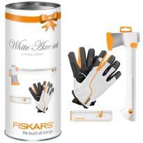 Vánoční sada FISKARS 129040 (sekera X7, rukavice, ostřička)