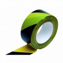 Varovací páska 33m černá-žlutá samolepící