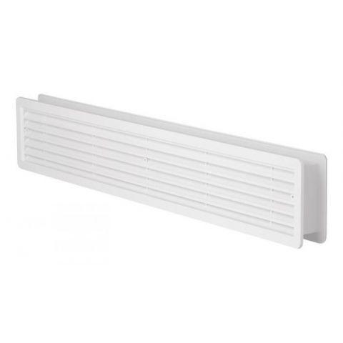 Větrací mřížka dveřní - VM 500x90 D B bílá
