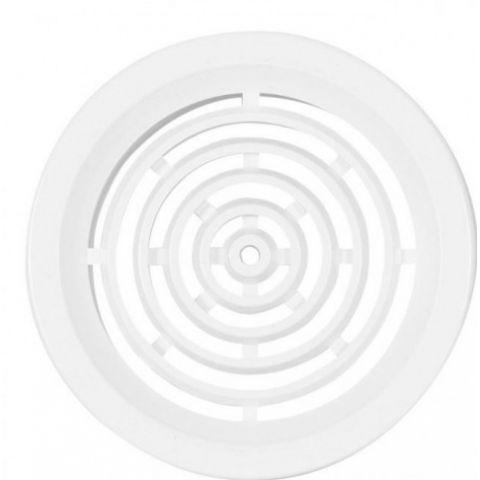 Větrací mřížka kruhová bez síťoviny - VM 50 B bílá
