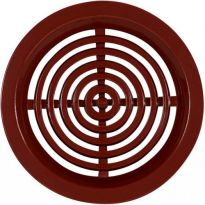 Větrací mřížka kruhová bez síťoviny - VM 50 H hnědá