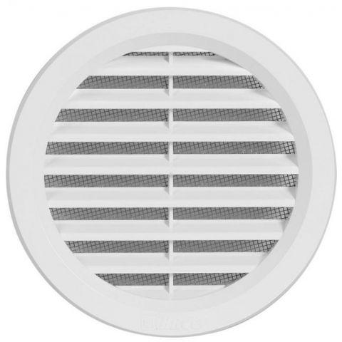 Větrací mřížka kruhová se síťovinou - VM 100 B bílá