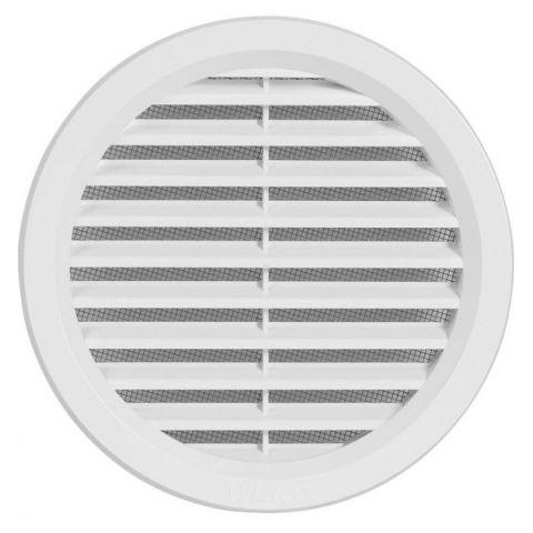 Větrací mřížka kruhová se síťovinou - VM 125 B bílá