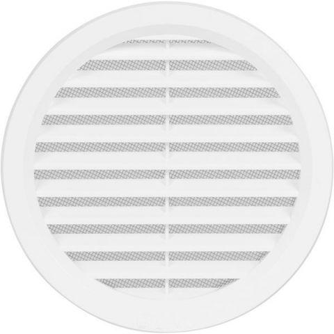 Větrací mřížka kruhová se síťovinou - VM 140 B bílá
