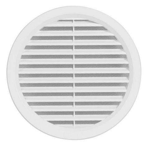 Větrací mřížka kruhová se síťovinou - VM 150 B bílá