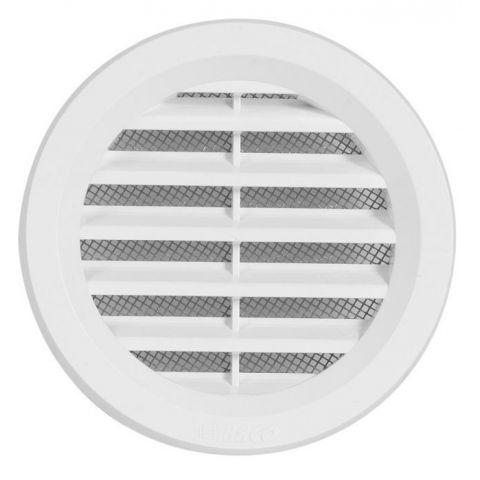 Větrací mřížka kruhová se síťovinou - VM 75 B bílá