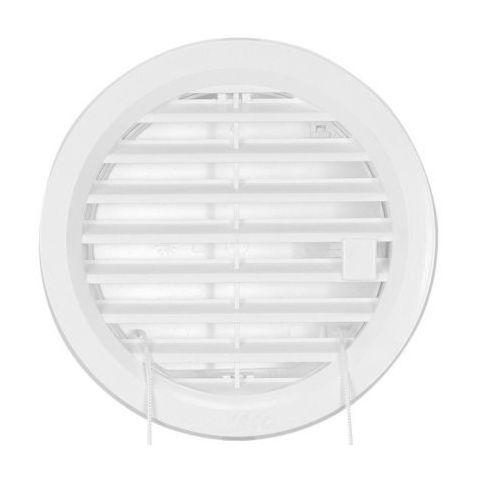 Větrací mřížka kruhová uzavíratelná - VM 110 U B bílá