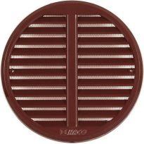 Větrací mřížka se síťovinou - krytka stavitelná - VM 125-160 KS H kruhová hnědá