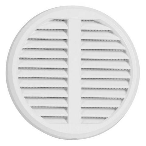 Větrací mřížka se síťovinou - krytka stavitelná - VM 75-125 KS B kruhová bílá