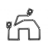 Víceúčelové dvanácti-dílné skládací pravítko GEKO
