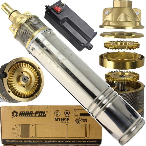 Vodní hlubinné čerpadlo 1,1KW, 230V MAR-POL *HOBY 15.5Kg M79919