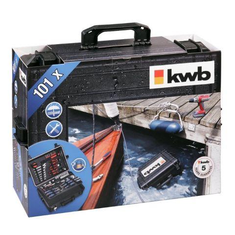 Vodotěšný kufr s nářadím KWB, 101-dílný set