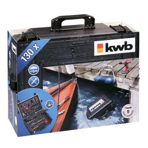 Vodotěšný kufr s nářadím KWB, 130-dílný set