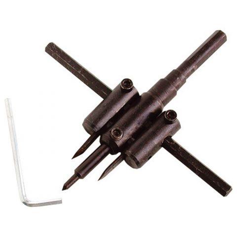 Vrták nastavitelný vykružovací do dřeva s 2 břity, EXTOL CRAFT