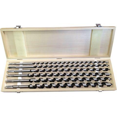 Vrtáky hadovité do dřeva, sada 6ks, O 10-12-14-16-18-20x460mm, šestihranná stopka, v dřevěné kazetě, EXTOL PREMIUM