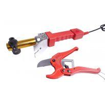 Výhodný set - Svářečka plastových trubek KAXL 800W trnová + ZDARMA - Nůžky na plastové trubky do 42mm KAXL