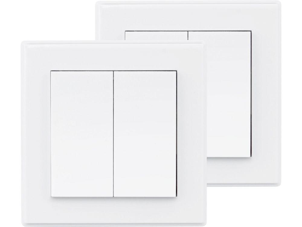 Vypínač/ovladač, dvojitý, 2ks, 2 jednotlivé/skupinové kanály EXTOL LIGHT *HOBY 0.14Kg 43822