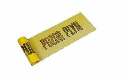 Výstražná páska žlutá POZOR PLYN 220mmx20m *HOBY 0Kg 2031502-0
