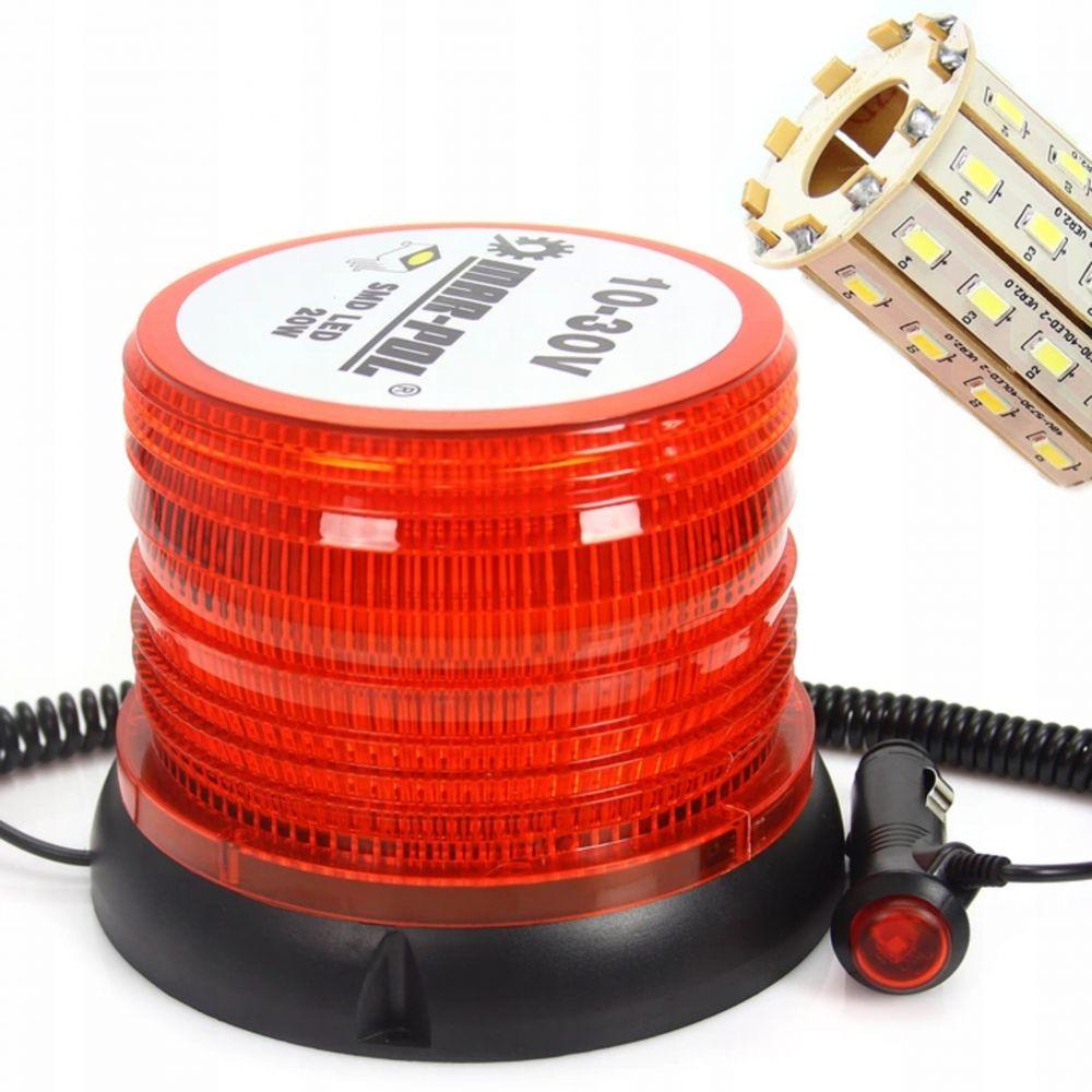 Výstražný maják, světlo oranžové 10-30V, 40 LED M82710 MAR-POL