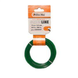 Vyžínací struna 15m 2,0mm Greenline OLEO-MAC