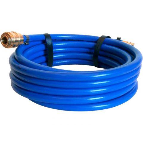 Vzduchová hadice PVC s rychlospojkami, délka 10 m, vnitřní/vnější Ø 6/12 mm, EXTOL PREMIUM