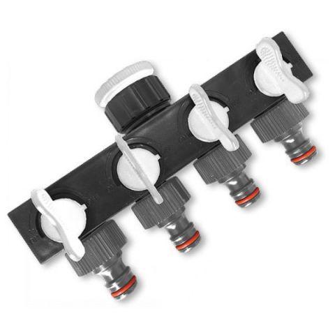 """WHITE LINE rozdělovač, 4-cestný ventil 1""""-3/4"""""""