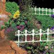 Zahradní plastový plot  3,7m GARDEN ART
