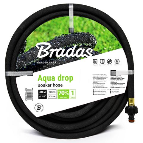 """Zahradní zavlažovací kapací hadice 30m 1/2"""" AQUA-DROP"""