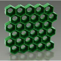 Zatravňovací plastové dlaždice 1m², tvárnice, černá HONEY
