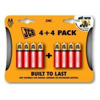 Zinkouhlíková baterie R06/AA, blistr 8 ks
