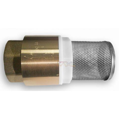 """Zpětný ventil - sací koš mosazný 1"""""""